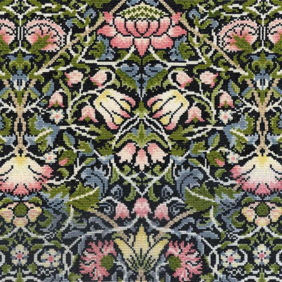 Bell Flower William Morris Cross Stitch Kit By Bothy Threads