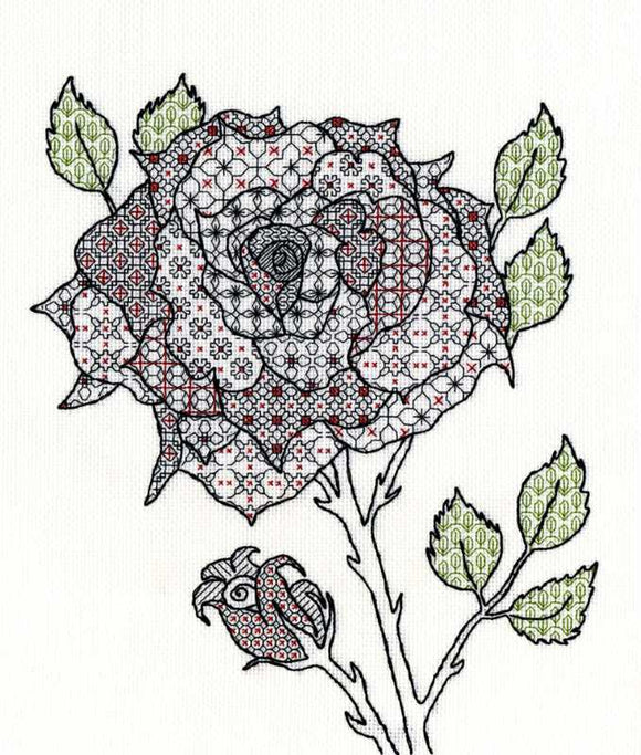 Rose Blackwork Kit By Bothy Threads