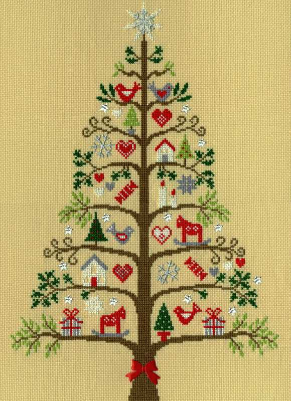 Scandi Tree Cross Stitch Kit By Bothy Threads