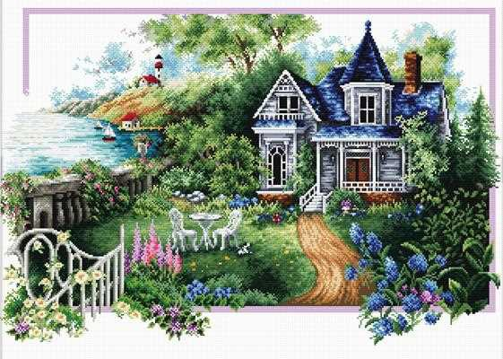 Summer Comes Printed Cross Stitch Kit by Needleart World