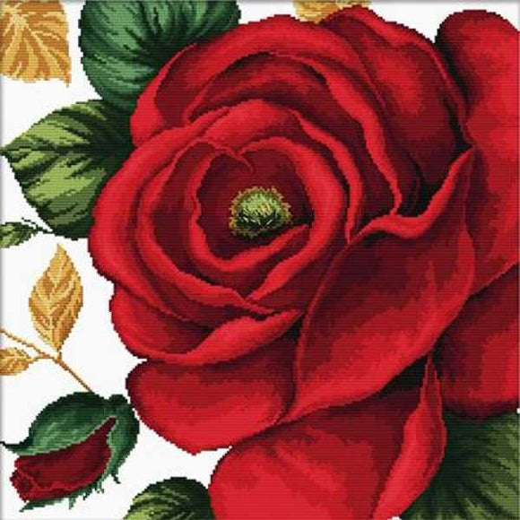 Rose Printed Cross Stitch Kit by Needleart World
