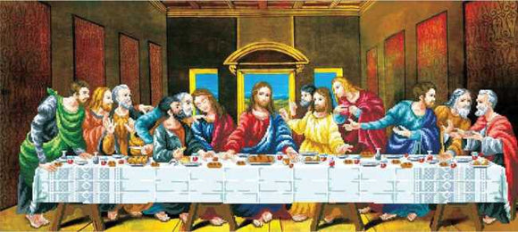 The Last Supper Printed Cross Stitch Kit by Needleart World