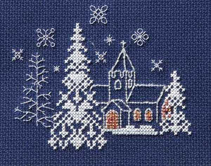 Let it Snow Cross Stitch Christmas Card Kit by Derwentwater Designs