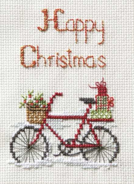 Christmas Delivery Cross Stitch Christmas Card Kit by Derwentwater Designs