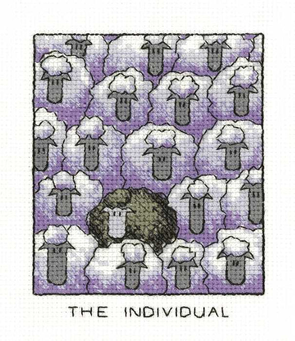 The Individual Cross Stitch Kit by Heritage Crafts