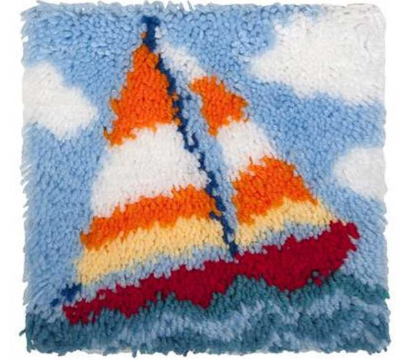 Sail Boat Latch Hook Kit By Needleart World