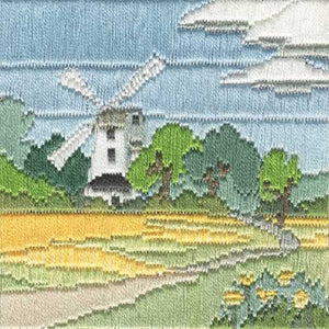 Windmill Long Stitch Kit by Derwentwater Designs