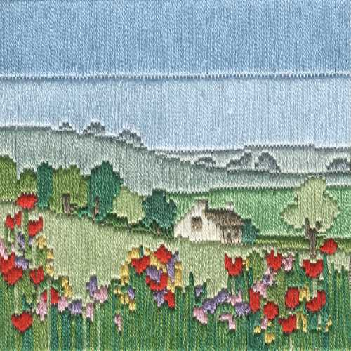 Meadow Long Stitch Kit by Derwentwater Designs