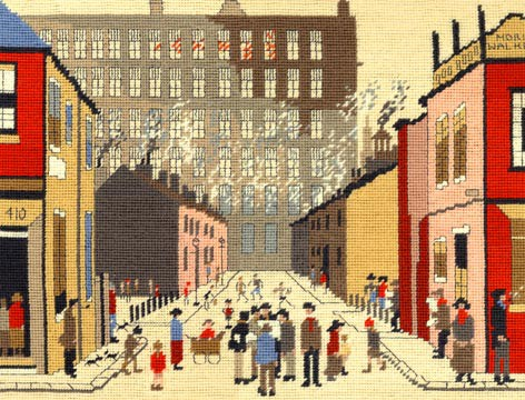 Street Scene Lowry Tapestry Kit By Bothy Threads