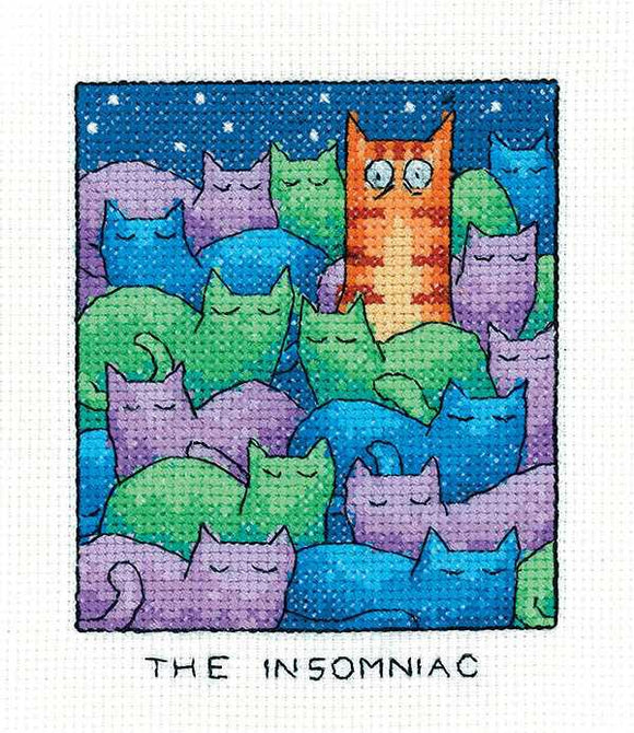 The Insomniac Cross Stitch Kit by Heritage Crafts
