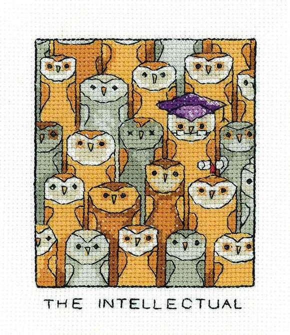The Intellectual Cross Stitch Kit by Heritage Crafts