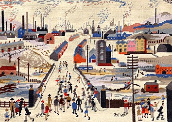 Canal Bridge Lowry Tapestry Kit By Bothy Threads