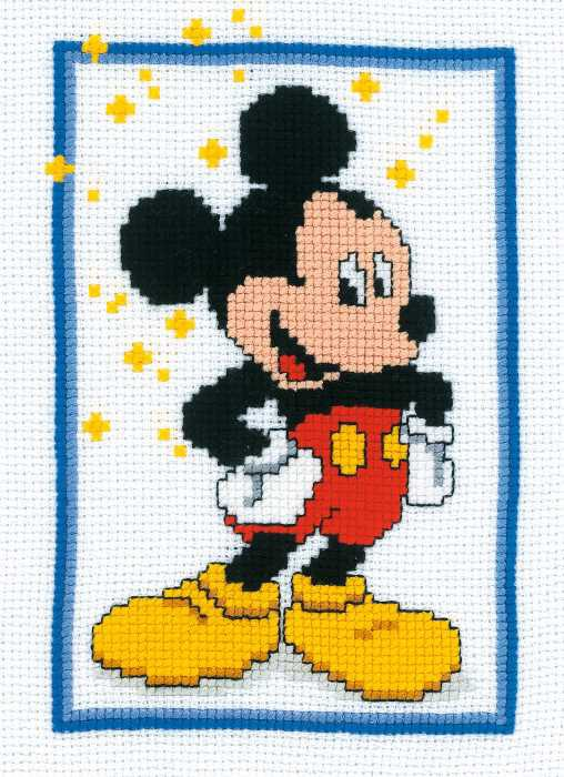 Mickey Mouse Cross Stitch Kit by Vervaco