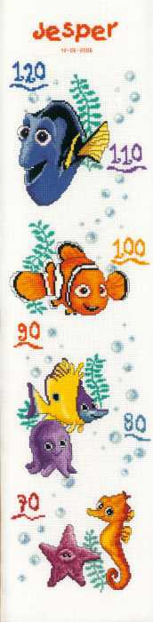 Nemo Height Chart Cross Stitch Kit By Vervaco