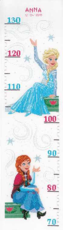 Sisters Forever - Frozen Height Chart Cross Stitch Kit By Vervaco