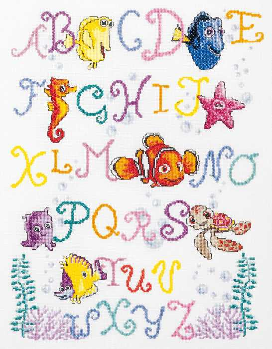 Nemo Alphabet Cross Stitch Kit By Vervaco