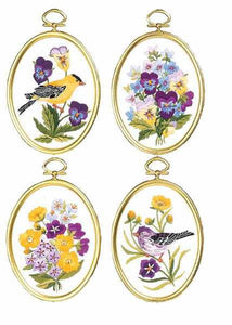 Wildflowers and Finches Embroidery Kit by Janlynn
