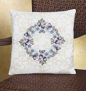 Floral Fantasy Pillow Embroidery Kit by Janlynn