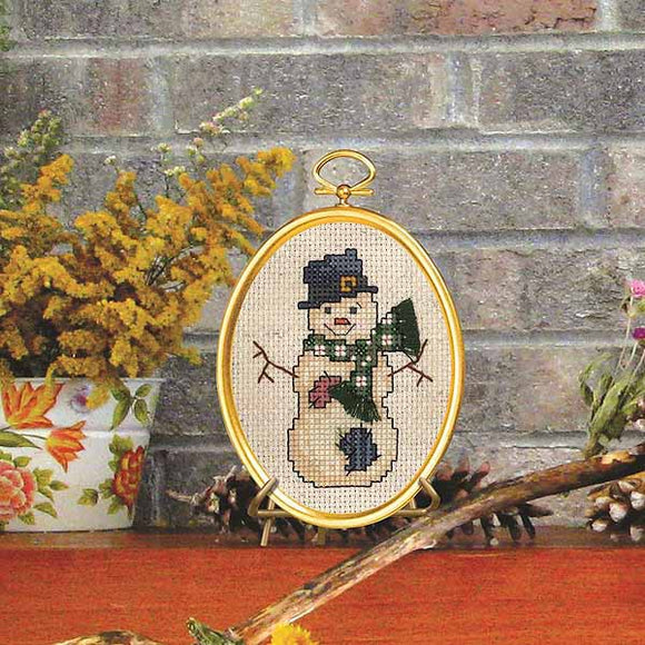 Top Hat Snowman Cross Stitch Kit by Janlynn