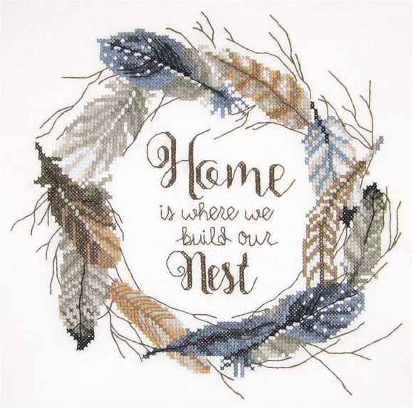Build Our Nest Sampler Printed Cross Stitch Kit by Janlynn