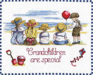 Grandchildren are Special All Our Yesterdays Cross Stitch Kit by Faye Whittaker