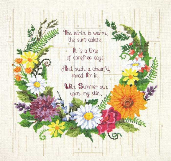 Summer Sentiments Cross Stitch Kit by Janlynn