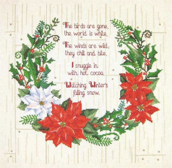 Winter Sentiments Cross Stitch Kit by Janlynn