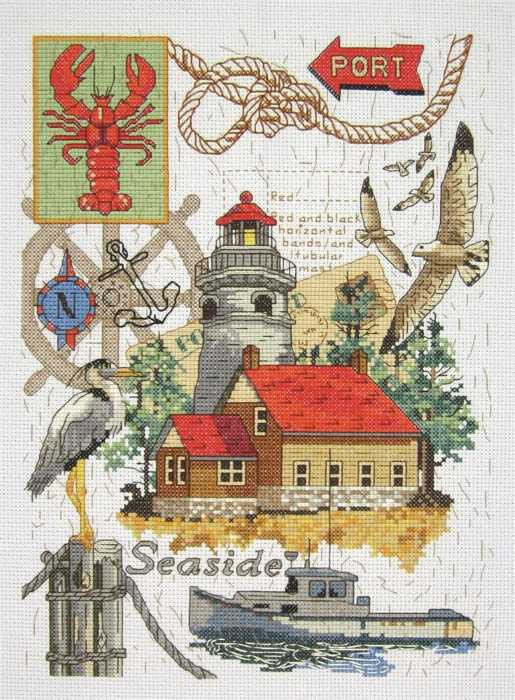Seaside Collage Cross Stitch Kit by Janlynn