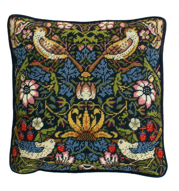 Strawberry Thief William Morris Tapestry Cushion Kit By Bothy Threads