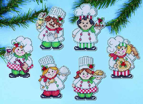 Cooking Up Christmas Ornaments Cross Stitch Kit by Design Works