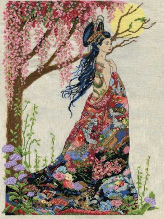 Queen of Silk Cross Stitch Kit by Design Works