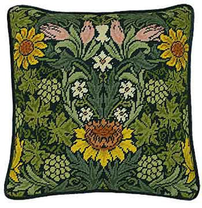 Sunflowers William Morris Tapestry Cushion Kit By Bothy Threads