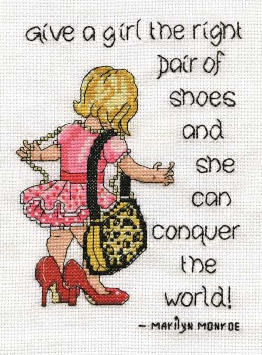 Right Pair of Shoes Cross Stitch Kit by Design Works