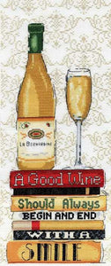 White Wine Cross Stitch Kit by Design Works