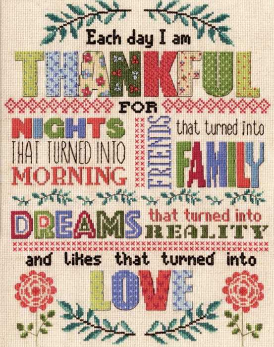 Thankful Cross Stitch Kit by Design Works