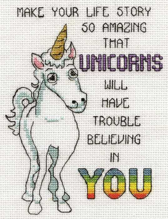 Unicorns Cross Stitch Kit by Design Works