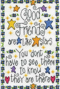 Good Friends Sampler Cross Stitch Kit by Design Works