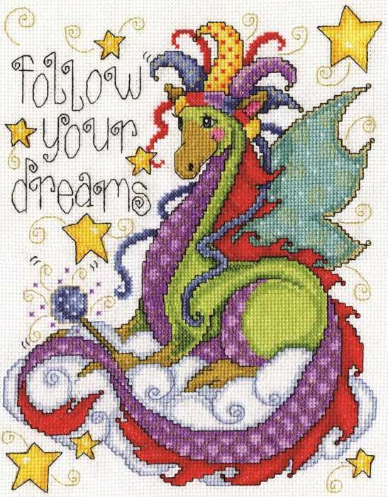 Dream Dragon Cross Stitch Kit by Design Works