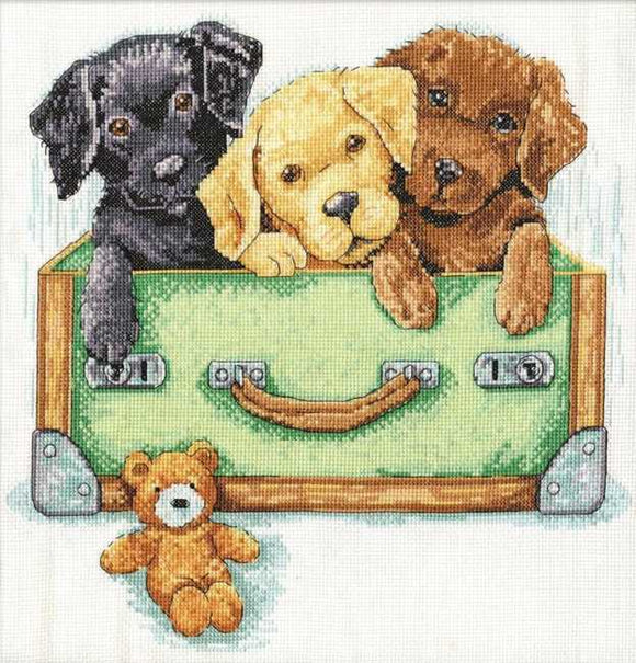 Suitcase of Labs Cross Stitch Kit by Design Works
