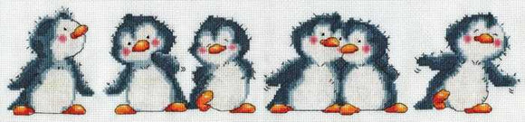 Penguin Row Cross Stitch Kit by Design Works