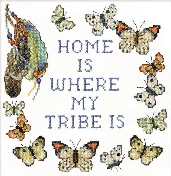 Home Tribe Sampler Printed Cross Stitch Kit by Design Works