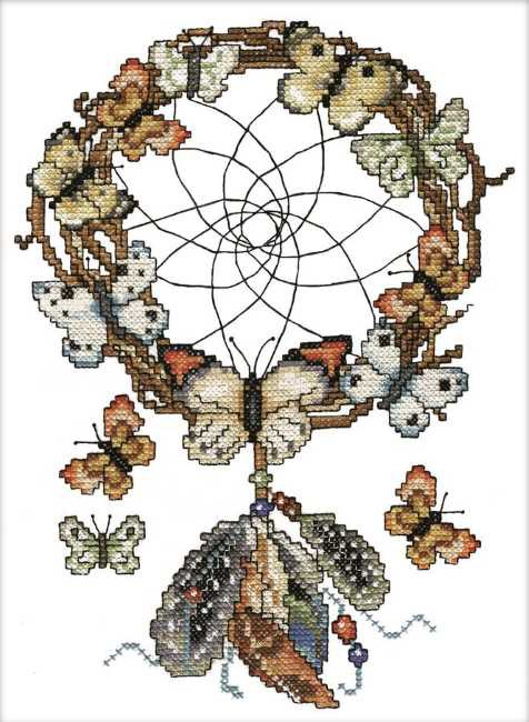 Dreamcatcher Printed Cross Stitch Kit by Design Works