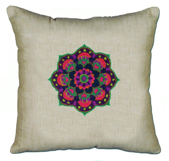 Mandala Pillow Punch Needle Kit by Janlynn
