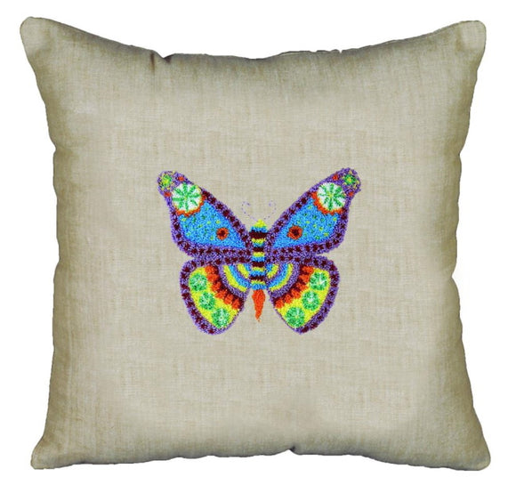 Butterfly Pillow Punch Needle Kit by Janlynn