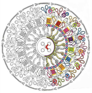Sewing Mandala Zenbroidery by Design Works