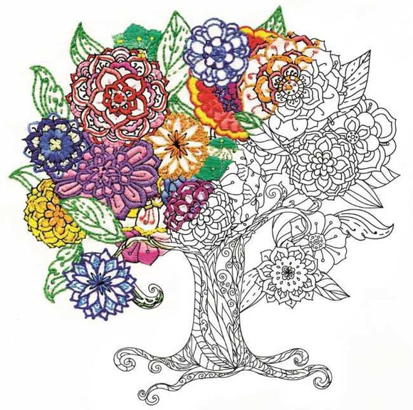 Tree Zenbroidery by Design Works