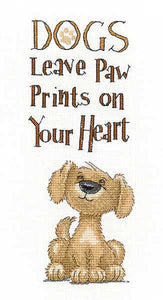 Paw Prints Cross Stitch Kit by Heritage Crafts