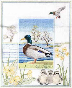 Mallard Cross Stitch Kit by Derwentwater Designs