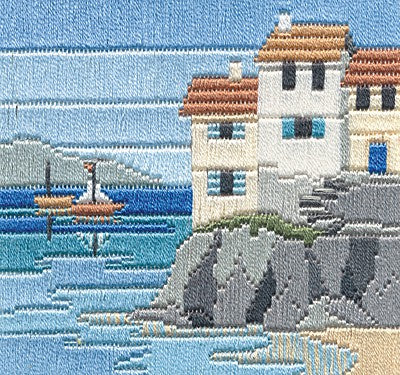 Headland Cottages Long Stitch Kit by Derwentwater Designs