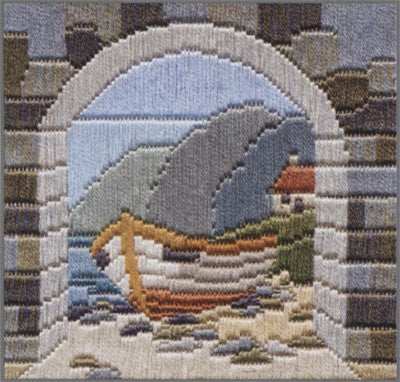 Boat Through Archway Long Stitch Kit by Derwentwater Designs